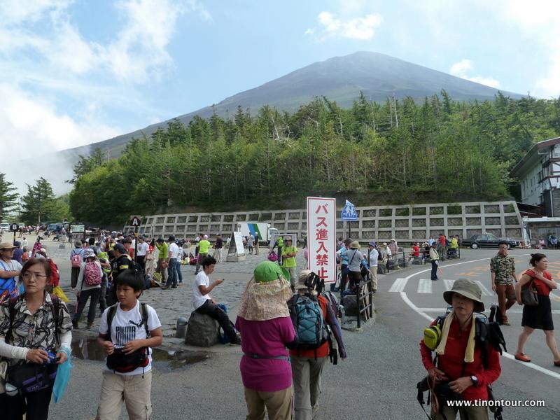 Da soll es rauf gehen: der Mt. Fuji ... Wahrzeichen Japans und noch immer ein aktiver Vulkan (letzter Ausbruch war jedoch 1707)