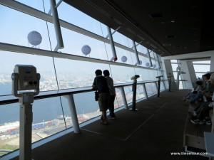 """Die Aussichtsplattform vom """"Osaka Prefectural Government Sakishima Building"""" - man kann glaube auch kurz und knapp Rathaus sagen *gg*"""