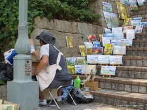 Leicht südeuropäischen in Kobe - u.a. dank Straßenkünstler und auch diverser kleiner Cafés