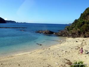 Ausblick aus meinem Zimmer im Kawai Gästehaus auf der Insel Aka