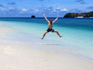 Traumhaft und einfach perfekt - ich allein am Nishihama Beach