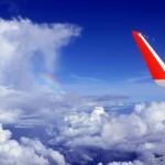 ups, was macht der Regenbogen hier in den Wolken - der erste Vorbote auf schlechtes Wetter?