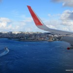 Anflug auf Naha (Okinawa; Japan)