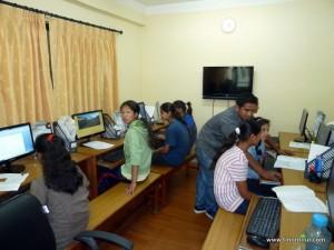 Der Computerraum - hier werden die Mädchen fitt für die Zukunft gemacht