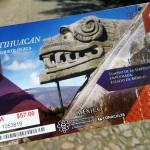 Eintrittskarte Teotihuacan (57 peso)