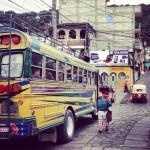 Vor meiner Abfahrt in das Kinderheim im Norden von Guatemala ein kleines Foto von meinem Bus.